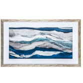 Abstract Waves Framed Wall Decor